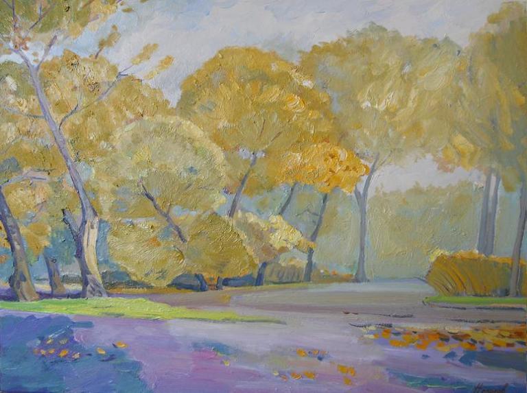 """Живопись """"Осенний парк"""" холст, масло 60 x 85 2009 г"""